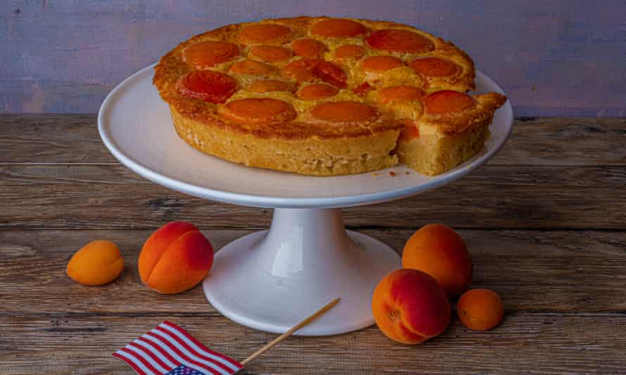 'Best on the day of preparation, but also good cold from the fridge for breakfast': apricot cream cake.