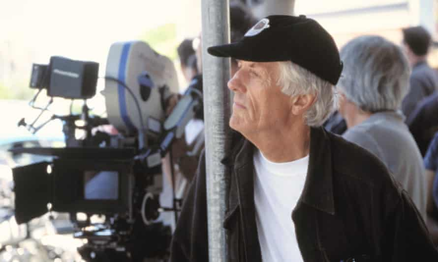 Director Michael Apted on set in 1994
