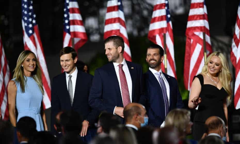 La familia Trump en la Convención Nacional Republicana en agosto del año pasado.