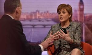 Nicola Sturgeon on the BBC's Andrew Marr Show