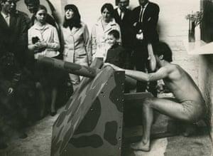 "Aachen Performance: ""The Only Respectable Weapon""German-Danish Days, A Week in Aachen at Galerie Aachen, Wallstr. 58, 15 - 22 April 1967"