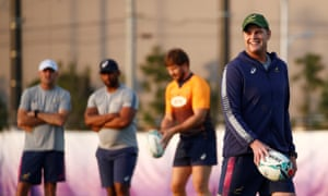 Rassie Erasmus enjoys a light hearted moment in training but warned England that South Africa will 'empty the tank' in the final.