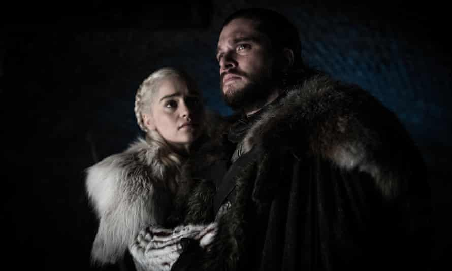 """Emilia Clarke and Kit Harington in a scene from """"Game of Thrones"""""""