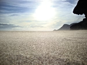 San Sand Blown, Bridport West Bay, Dorset, by Giordano Battistel.