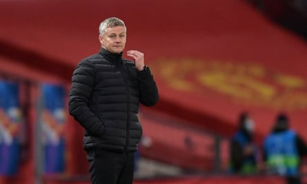 Ole Gunnar Solskjær on the touchline during Manchester United's Champions League win over RB Leipzig