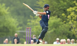 Middlesex's Max Holden bats during the Royal London One Day Cup match against Somerset at Radlett cricket club.