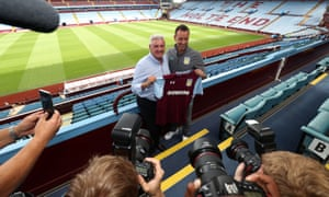 John Terry was unveiled at Villa Park alongside manager Steve Bruce on Monday.