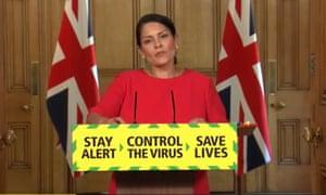 Priti Patel announced details of the new quarantine measures on Friday.