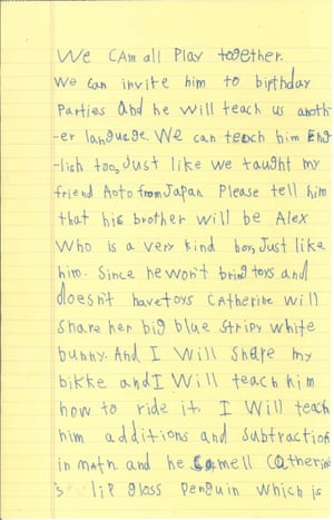Alex letter to Barack Obama, page two.
