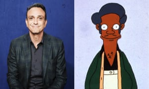 Hank Azaria and Apu of The Simpsons