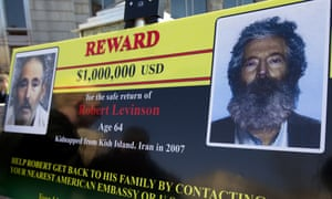 An FBI poster offers a reward for the return of Robert Levinson.