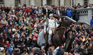 The Wintershall's 'The Passion of Jesus' is performed in front of crowds on Good Friday in Trafalgar Squar