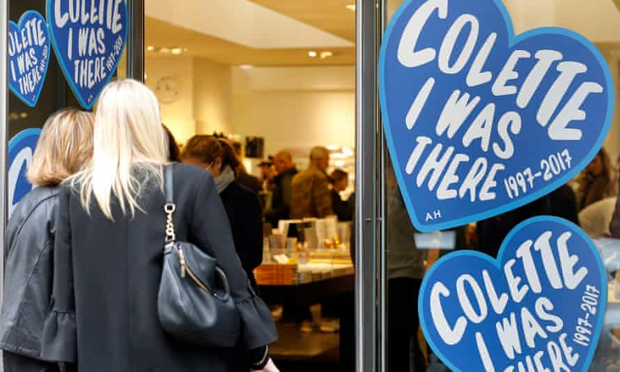 Shoppers pack Colette for its final few days of trading in Paris.