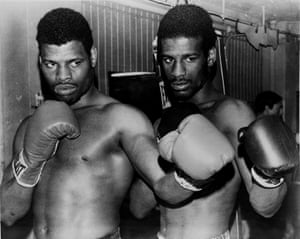 Leon and brother Michael Spinks, later a light-heavyweight and heavyweight world champion, pose together in the 1970s.