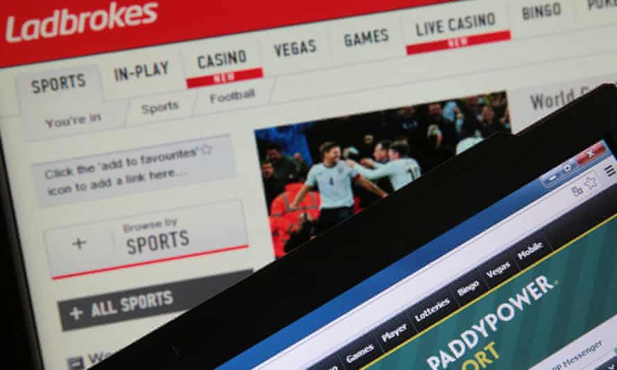Ladbrokes and PaddyPower Sport betting websites