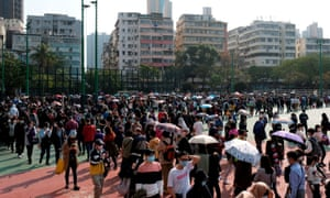Hundreds queue in Hong Kong to buy masks amid the coronavirus outbreak