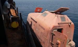 The MV Tamim Aldar's lifeboat