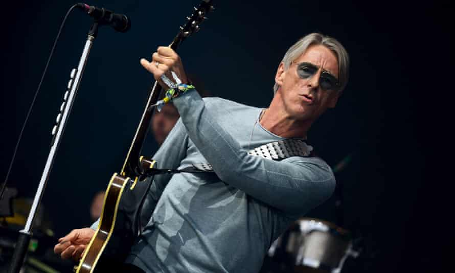 Paul Weller on stage at Glastonbury in 2015.
