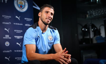 Rúben Dias is unveiled by Manchester City