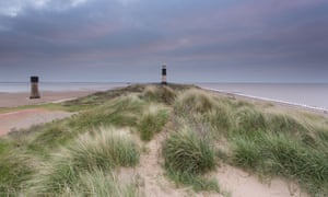 Spurn Point, disused lighthouse in East Yorkshire