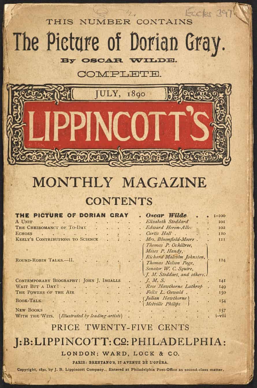 Lippincott's magazine featuring The Picture of Dorian Gray.