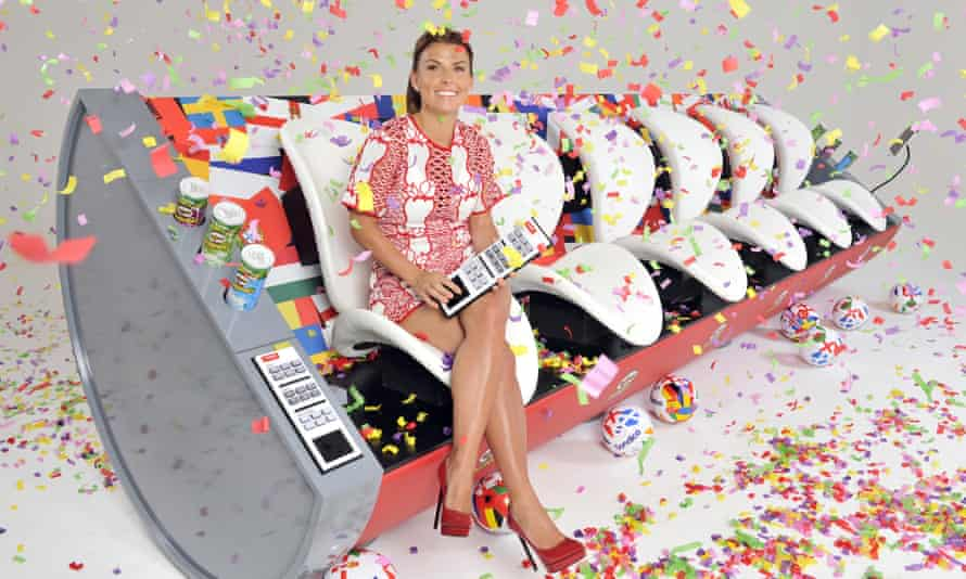 Coleen Rooney on the Pringles 'Super Sofa'