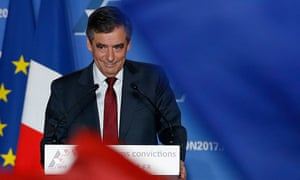 Fillon addresses the rally in Lyon on Tuesday.