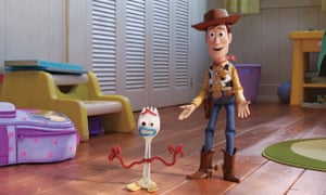 Stick a fork in it … new character Forky (voiced by Tony Hale) joins Woody (Tom Hanks) in Toy Story 4.