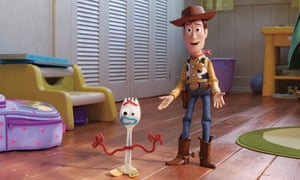 Woody with new friend Forky in Toy Story 4.