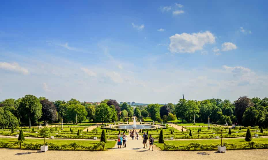The gardens of Sanssouci Palace in Potsdam.