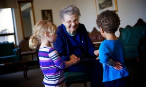 Scheduled visits between residents and children are a daily part of life at the Mount.