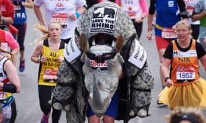 If you do not curb your addiction you could end up lining up alongside Rhino Steve in your first marathon.