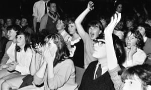 A photograph of the audience at the Beatles 20 October 1964 performance at Caird Hall in Dundee