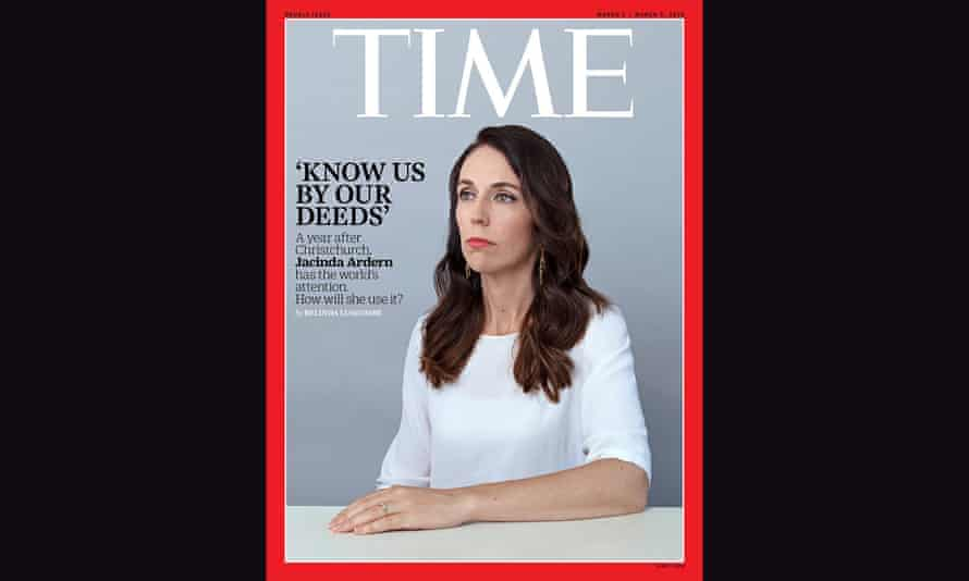 Jacinda Ardern, New Zealand's Prime Minster, on the cover of Time Magazine , March 2020.