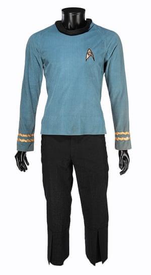 Spock's (Leonard Nimoy) science officer costume from Gene Roddenberry's sci-fi television series Star Trek: The Original Series. Estimate: £50,000 - £70,000