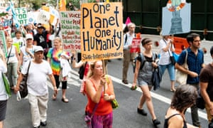 Several thousand people took part in a climate march in New York City on Thursday. Ten activists were arrested after blocking the street in front of Andrew Cuomo's Manhattan office.