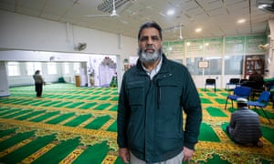 Mohammed Aurangzeb, chairman of the Dudley Central Mosque, in his prayer room.