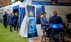CNBC International's reduced programming will result in job losses in its television department.