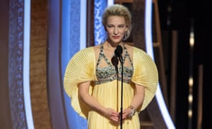 Cate Blanchett at the Golden Globes. She was one of several actors to link the fires ravaging Australia to global heating