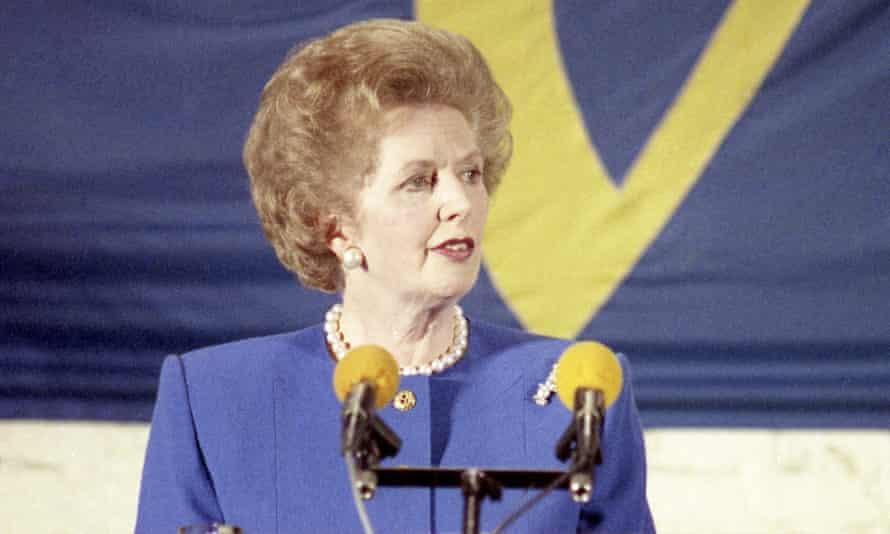Margaret Thatcher addresses the College of Europe in Bruges, 1988.