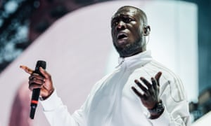 Stormzy performing at Wireless festival in London