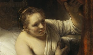 Rembrandt's A Woman in Bed (about 1645).