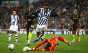 Kyle Edwards in action for West Brom.