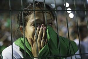 Chapeco, Brazil: A fan of the Chapecoense soccer team