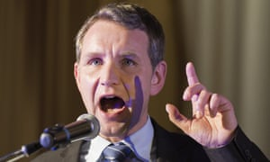 Björn Höcke delivers a speech at the Political Ash Wednesday rally