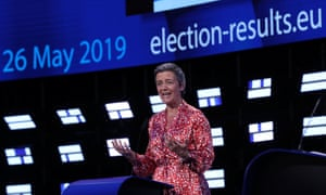 Margrethe Vestager announces she wants to be commission president.