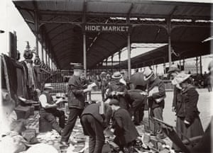Book sale at Caledonian market, c.1910