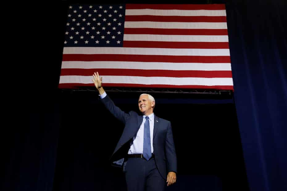 Mike Pence speaks at a campaign rally in Phoenix, Arizona in August 2016.