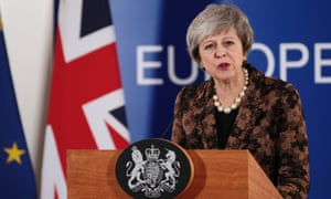Theresa May at the European Council during the EU summit on 14 December.