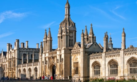 King's College gate house at the University of Cambridge.